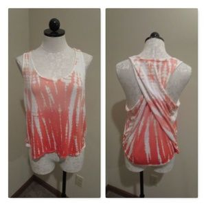 Young Fabulous and Broke Tie Dye tank top twist